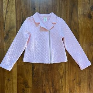 Gymboree Girls Quilted Pink Jacket Size Med 7-8